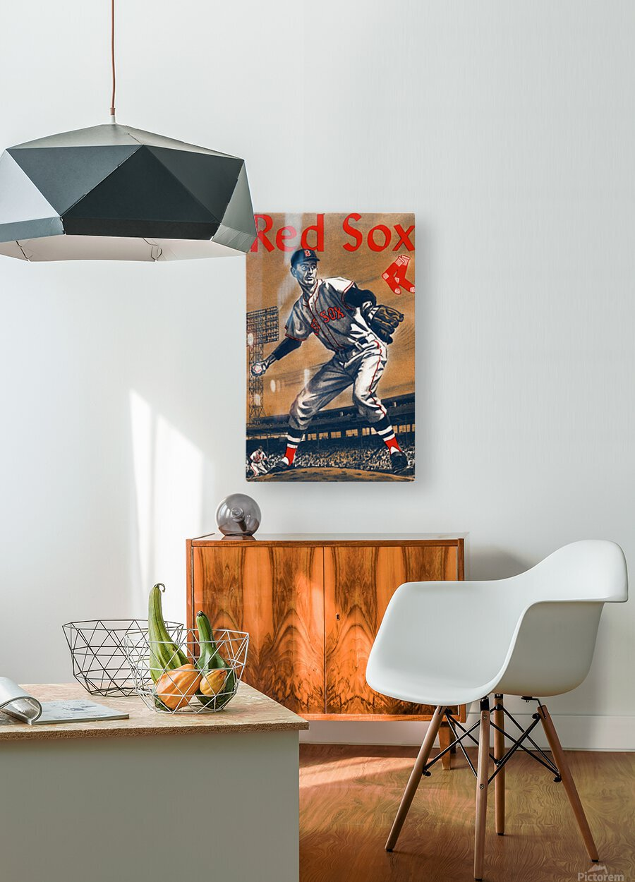 1960 Boston Red Sox Remix Art  HD Metal print with Floating Frame on Back