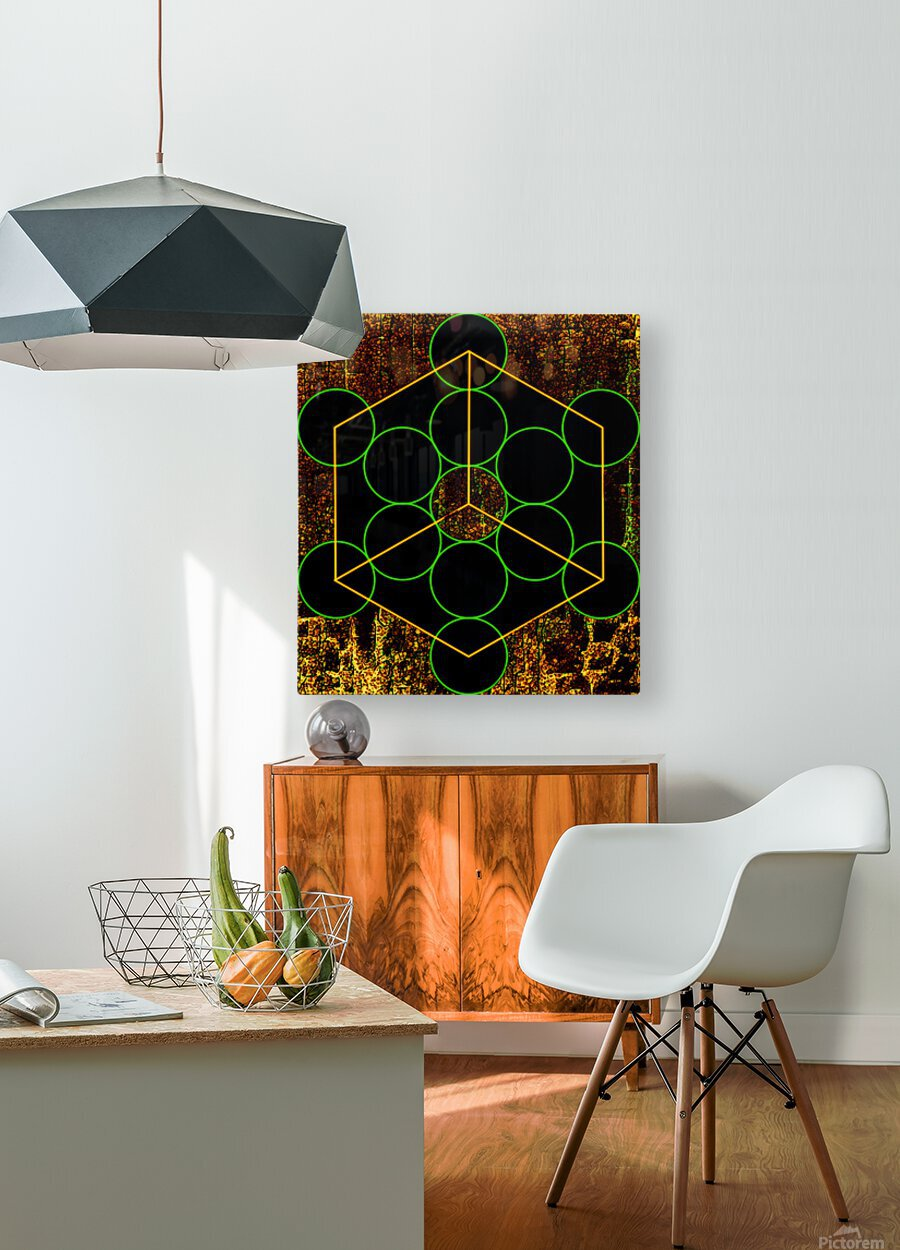 Experiments with Geometry 3  HD Metal print with Floating Frame on Back
