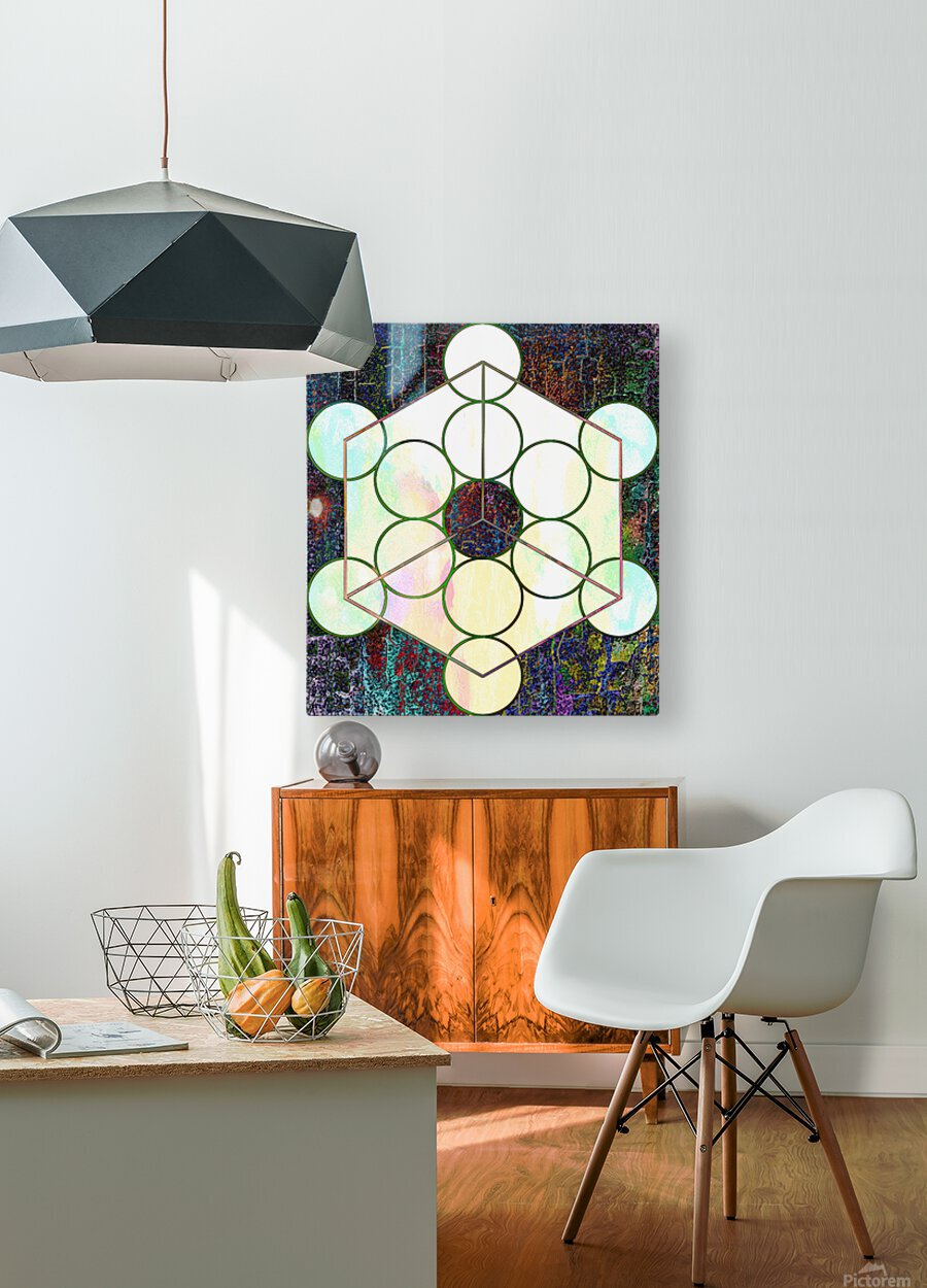 Experiments With Geometry 7  HD Metal print with Floating Frame on Back