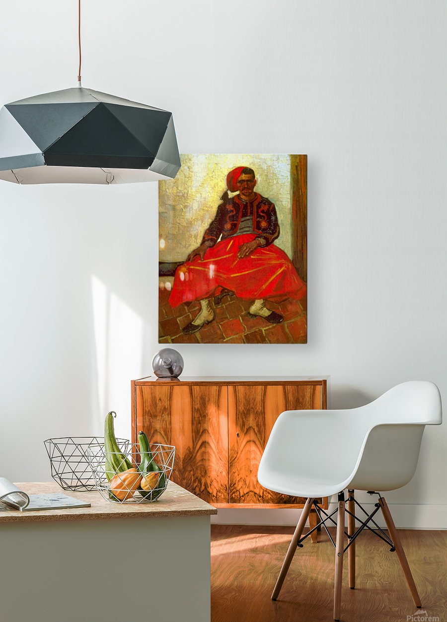 Zouave by Van Gogh  HD Metal print with Floating Frame on Back