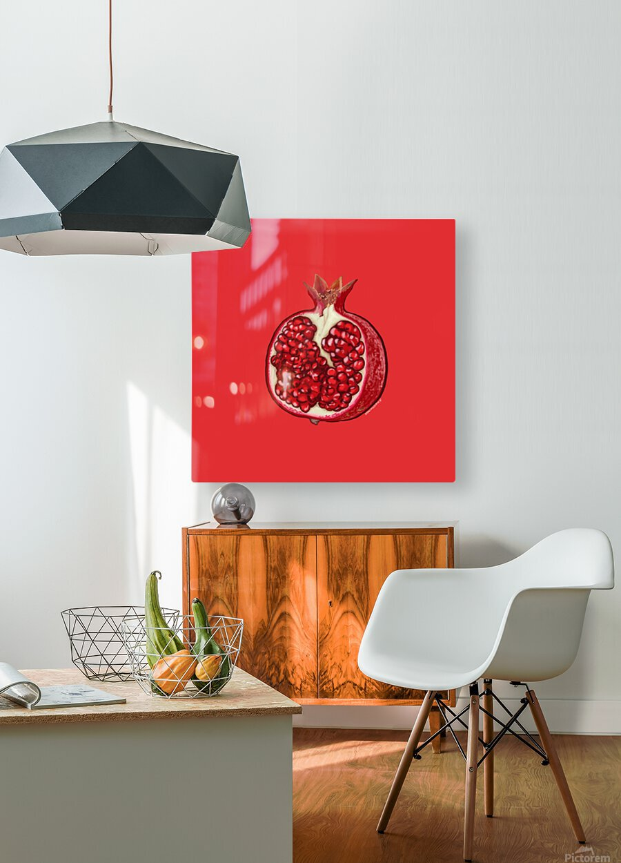 Grenade  HD Metal print with Floating Frame on Back