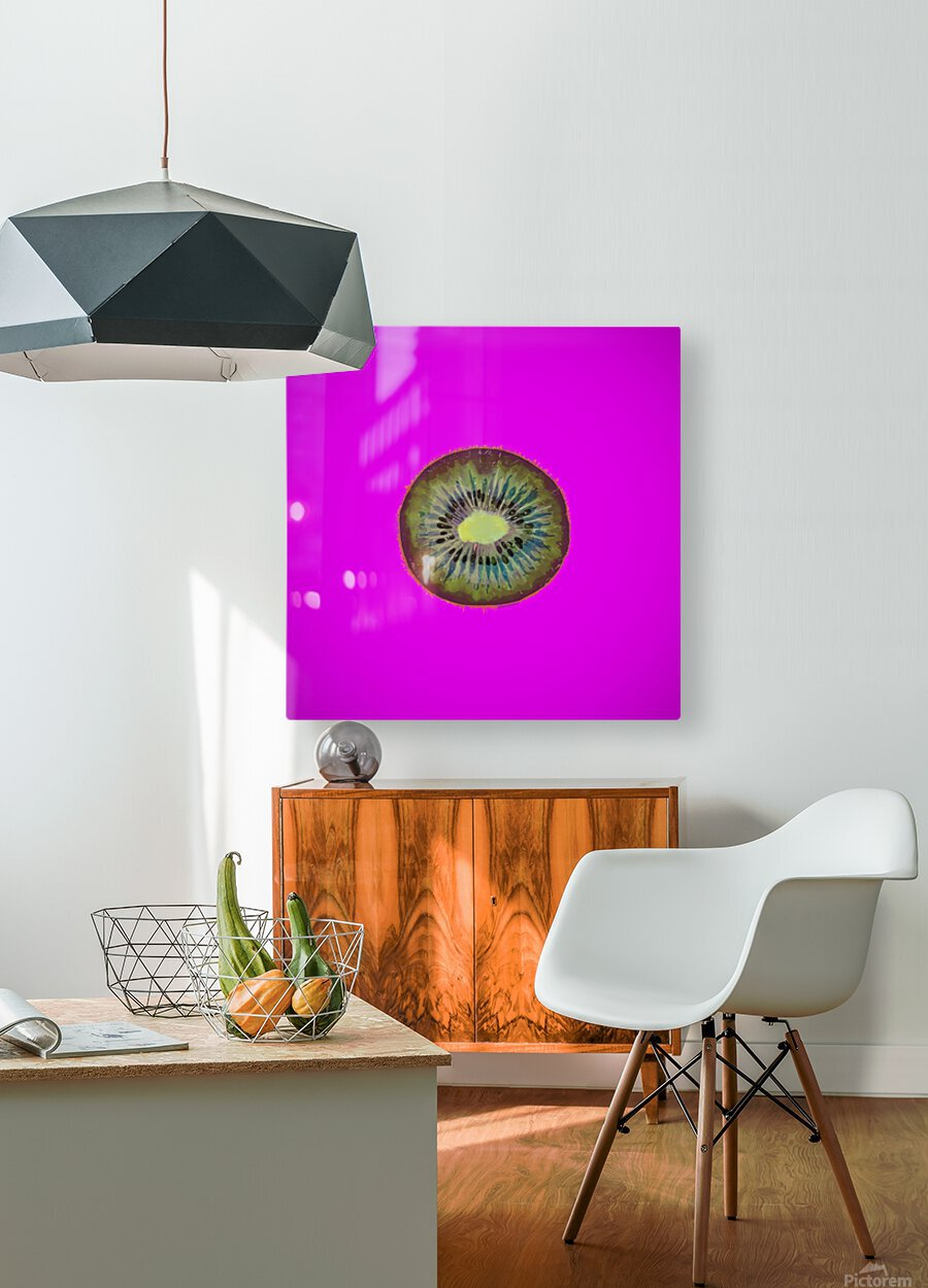Kiwi Redux II  HD Metal print with Floating Frame on Back