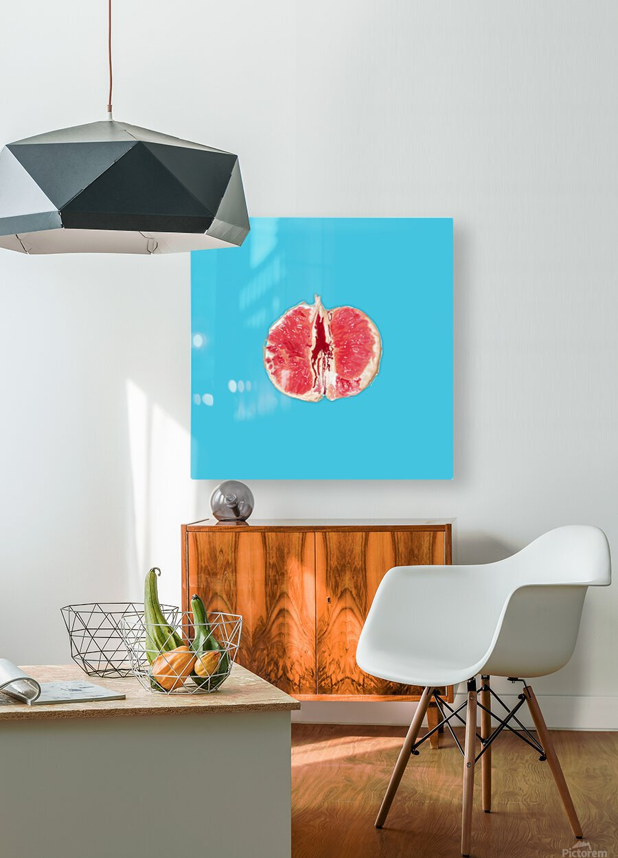 Sanguine  HD Metal print with Floating Frame on Back