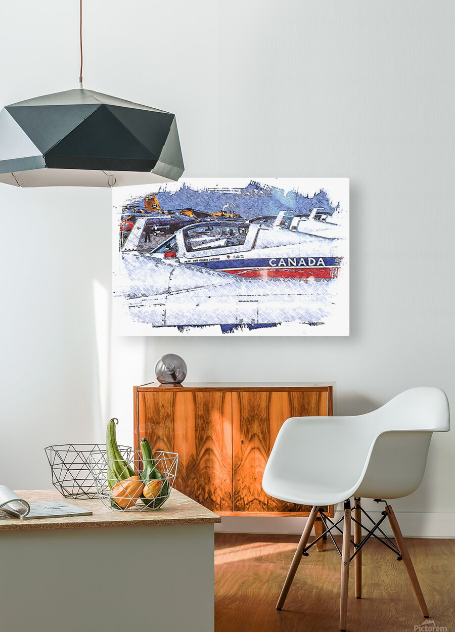 Canadian Snowbirds  HD Metal print with Floating Frame on Back