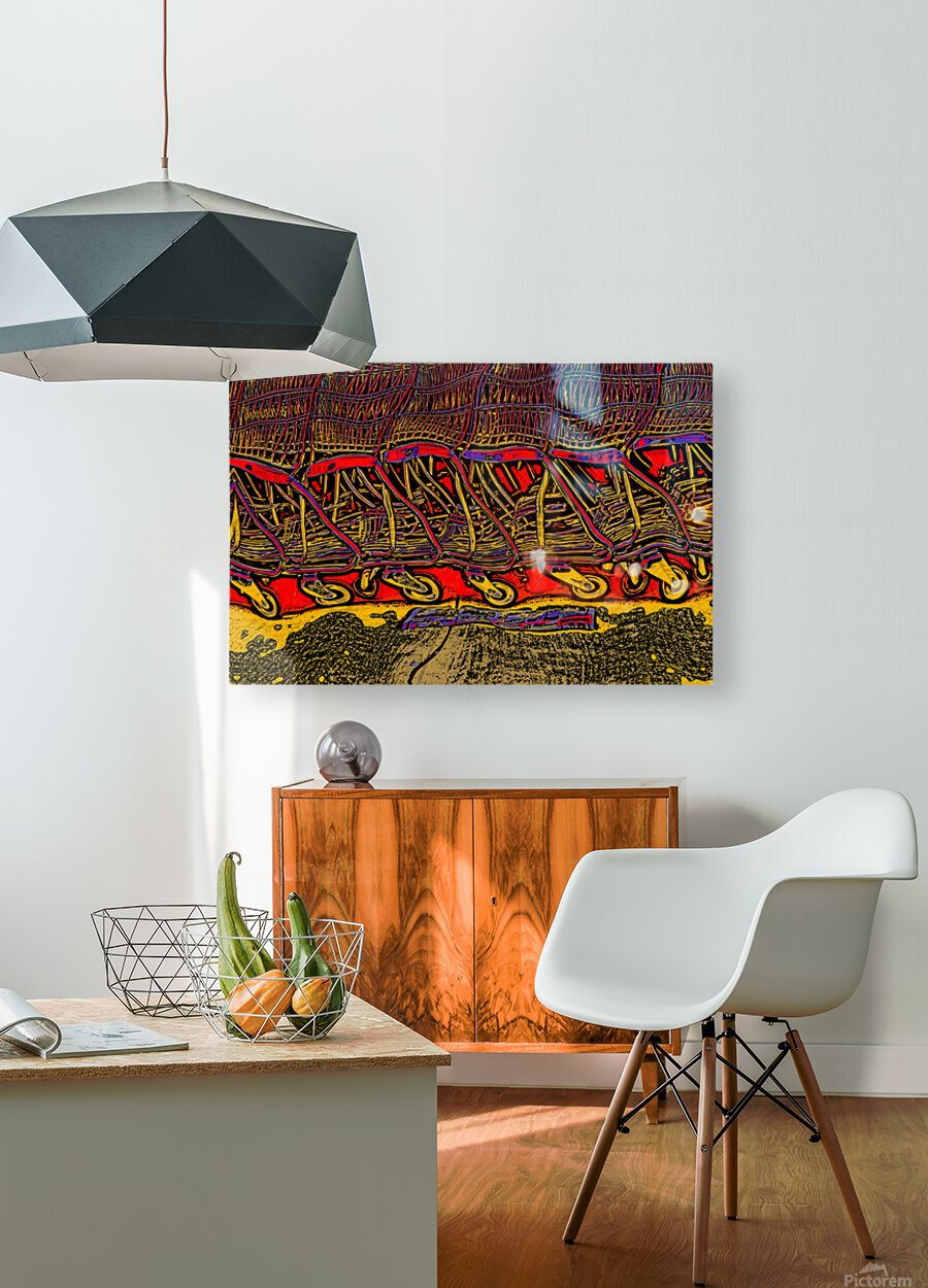 Shopping Carts  HD Metal print with Floating Frame on Back