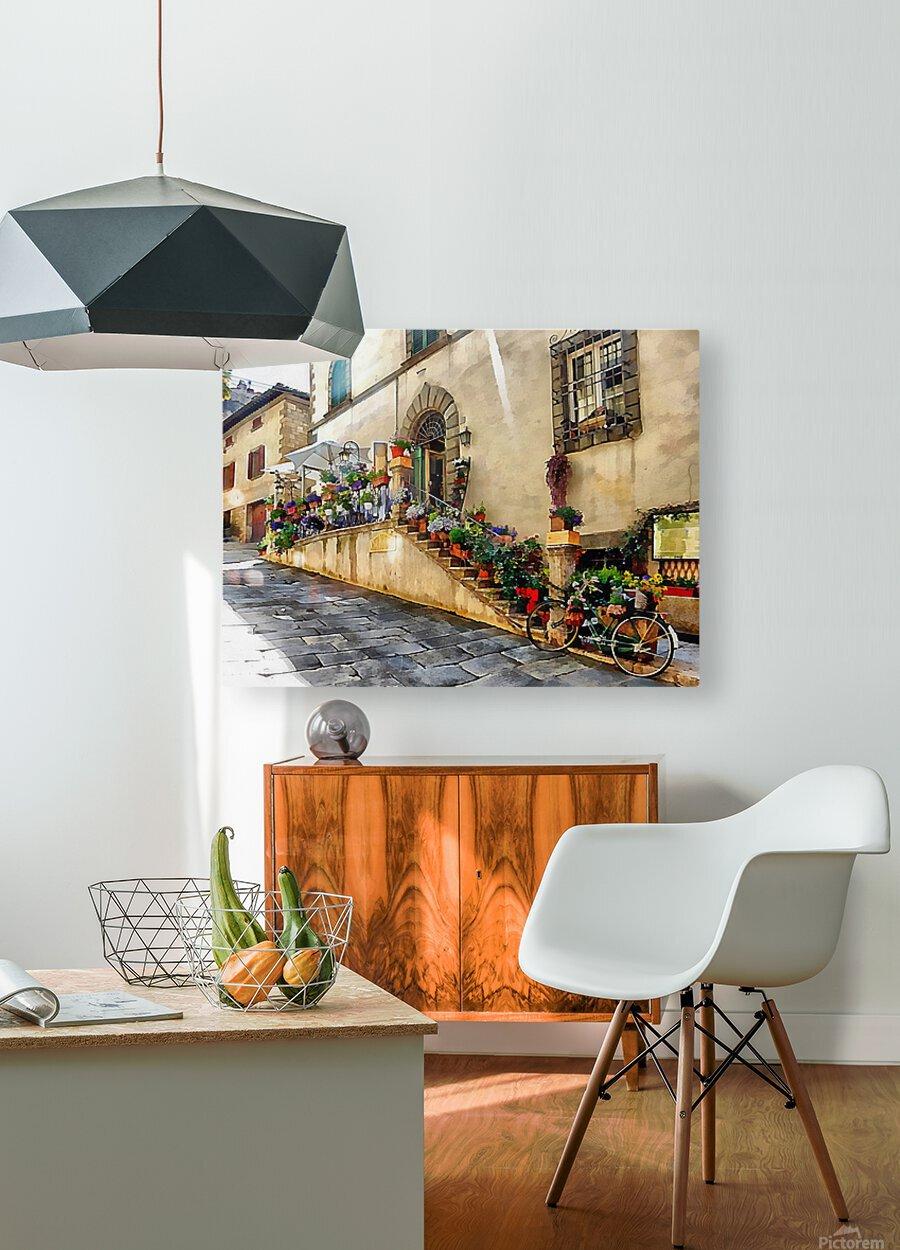 Floral Display Cortona  HD Metal print with Floating Frame on Back