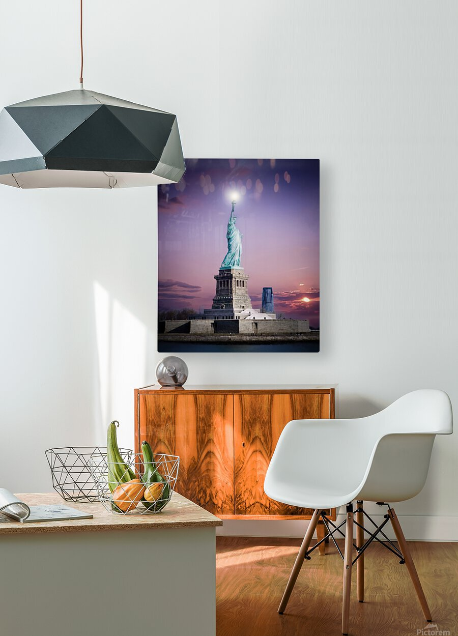 Liberty1  HD Metal print with Floating Frame on Back