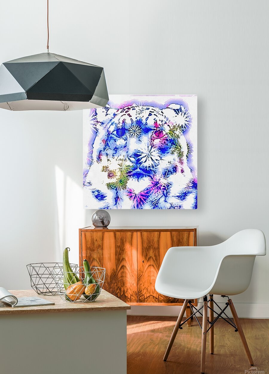 Spirit of the Snow Leopard   HD Metal print with Floating Frame on Back