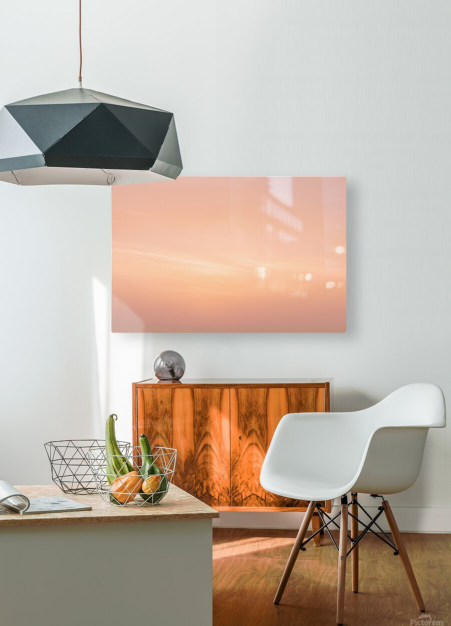 Pastel clouds  HD Metal print with Floating Frame on Back