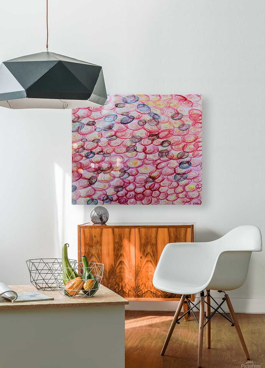 COLORFUL SPIRALS  HD Metal print with Floating Frame on Back