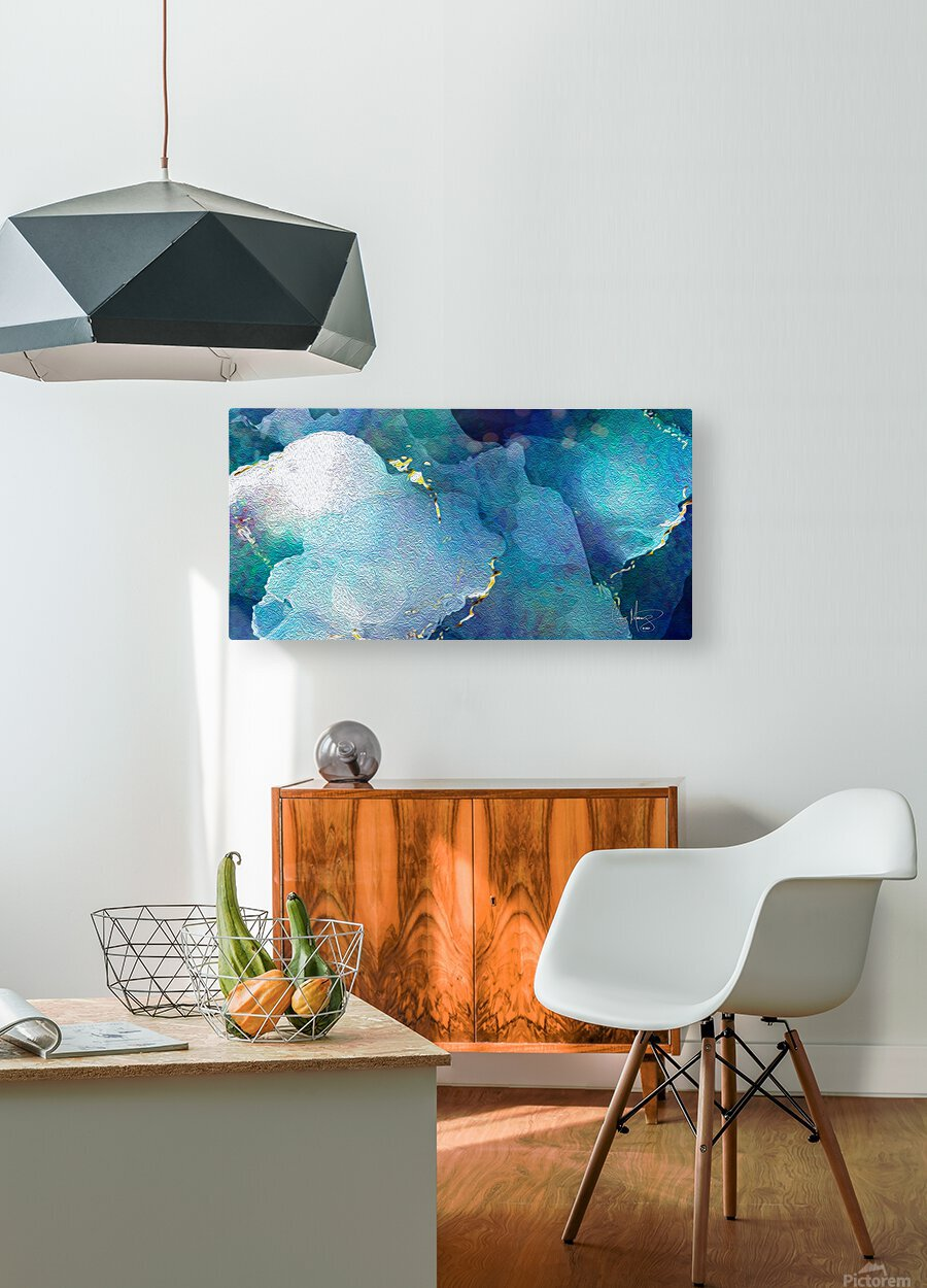 TheDeep  HD Metal print with Floating Frame on Back