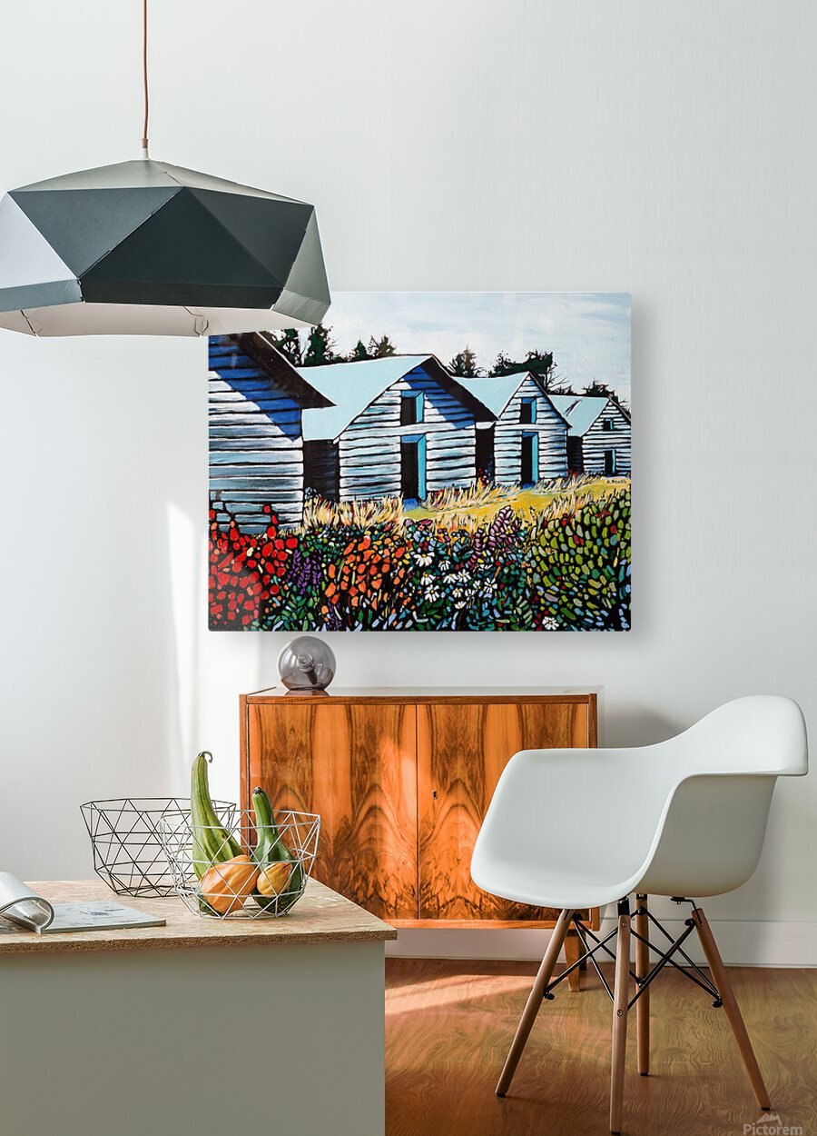 Summer on the Farm  HD Metal print with Floating Frame on Back