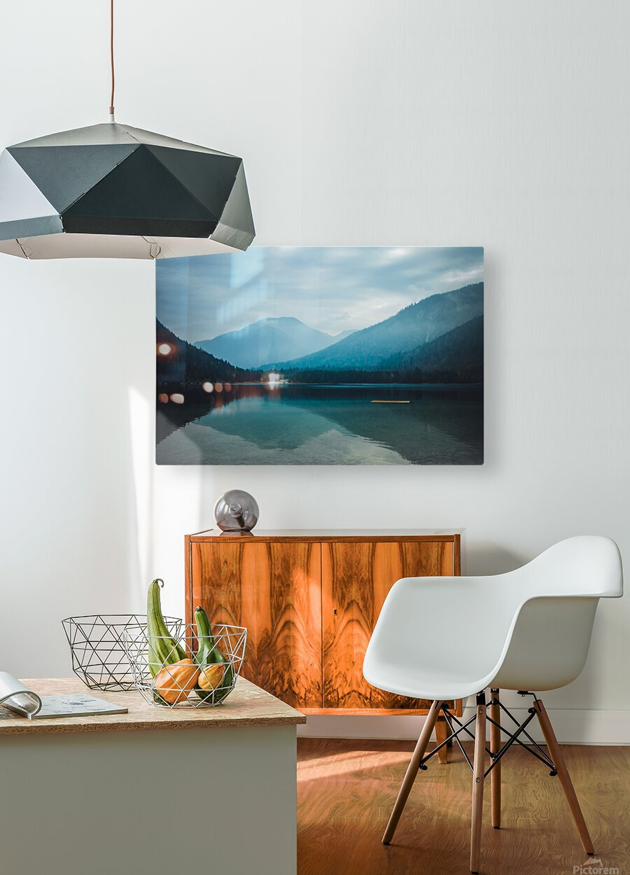 Mountain lake  HD Metal print with Floating Frame on Back