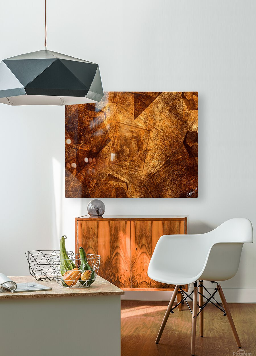 ABSTRACT-1008 Sociability  HD Metal print with Floating Frame on Back