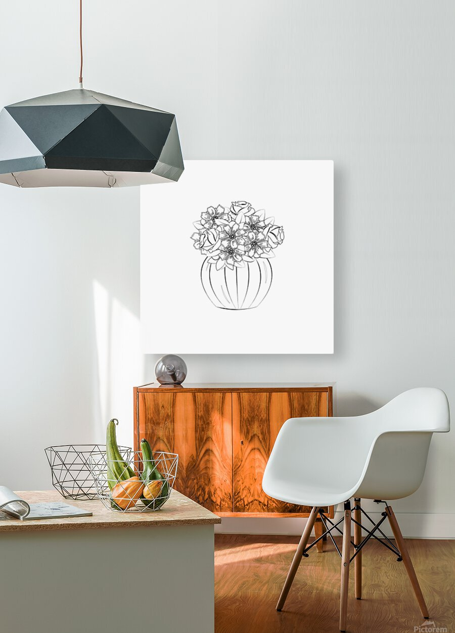 Flower bouquet   HD Metal print with Floating Frame on Back