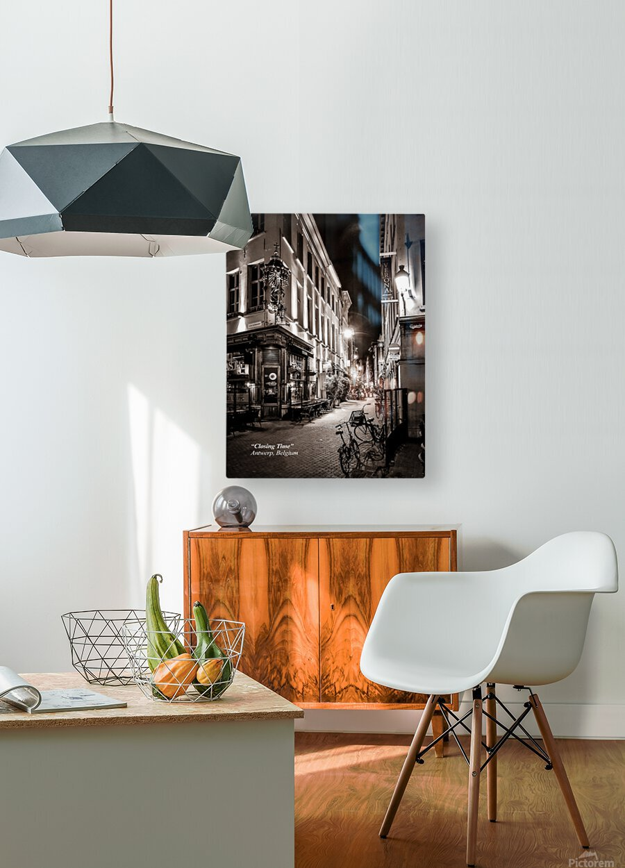 Closing Time  HD Metal print with Floating Frame on Back