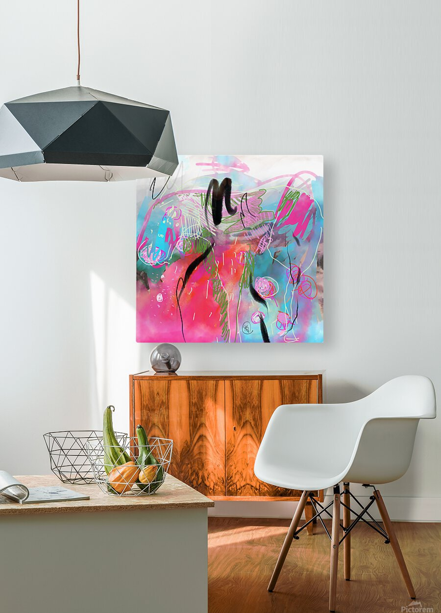 Summer Resort Abstract   HD Metal print with Floating Frame on Back