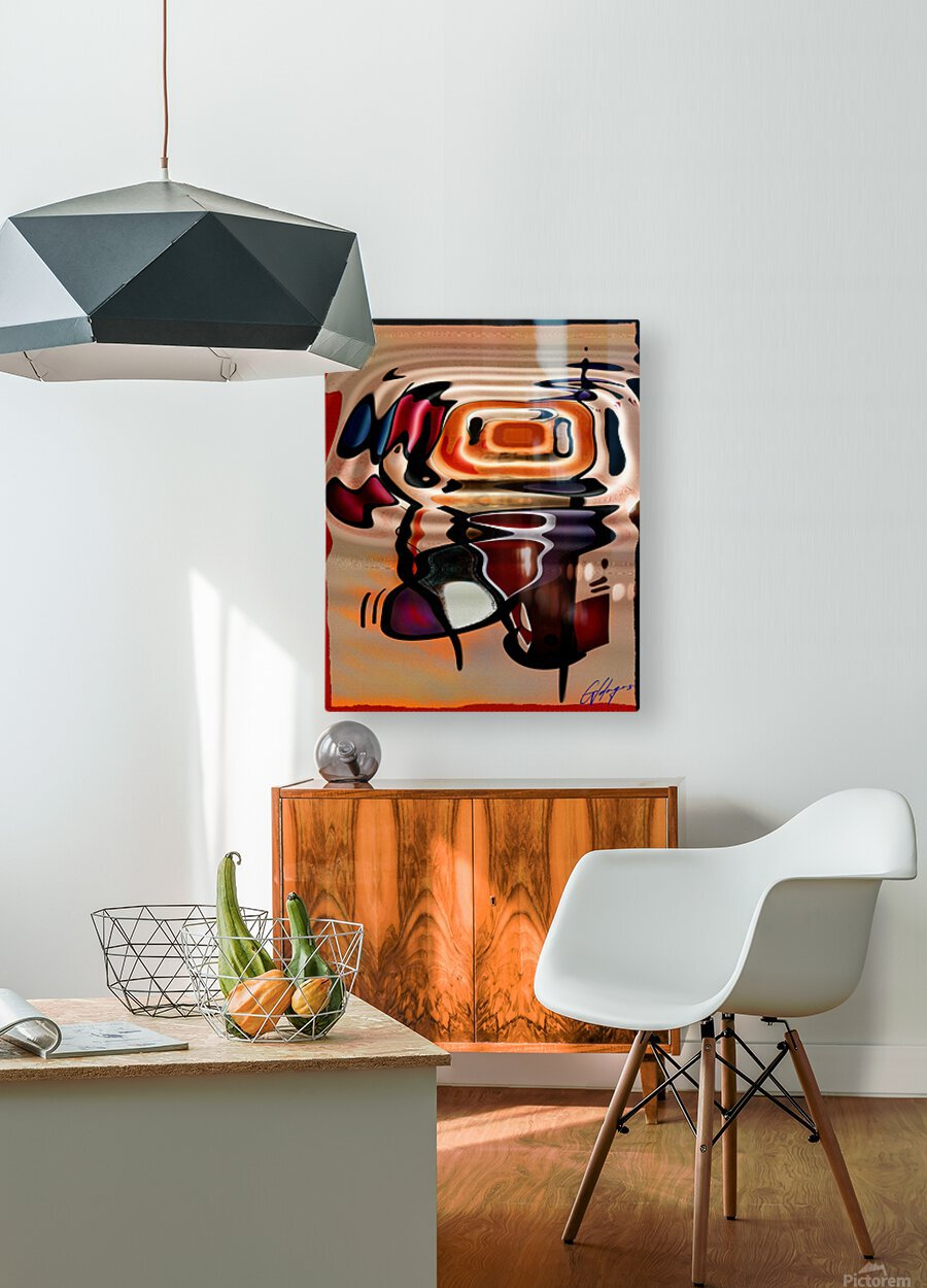 ABSTRACTO-2002 Drainage  HD Metal print with Floating Frame on Back