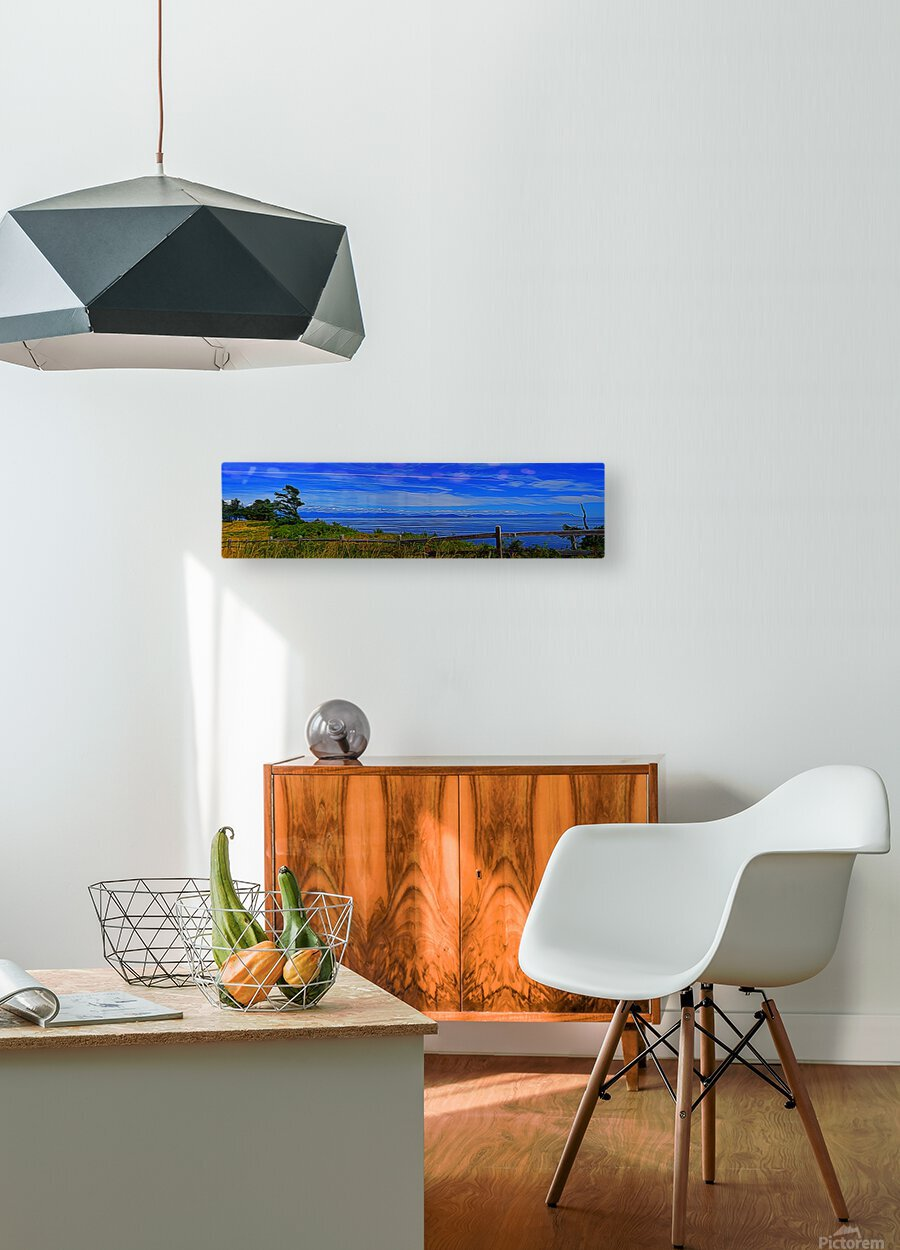 View from Cape Lazo  HD Metal print with Floating Frame on Back