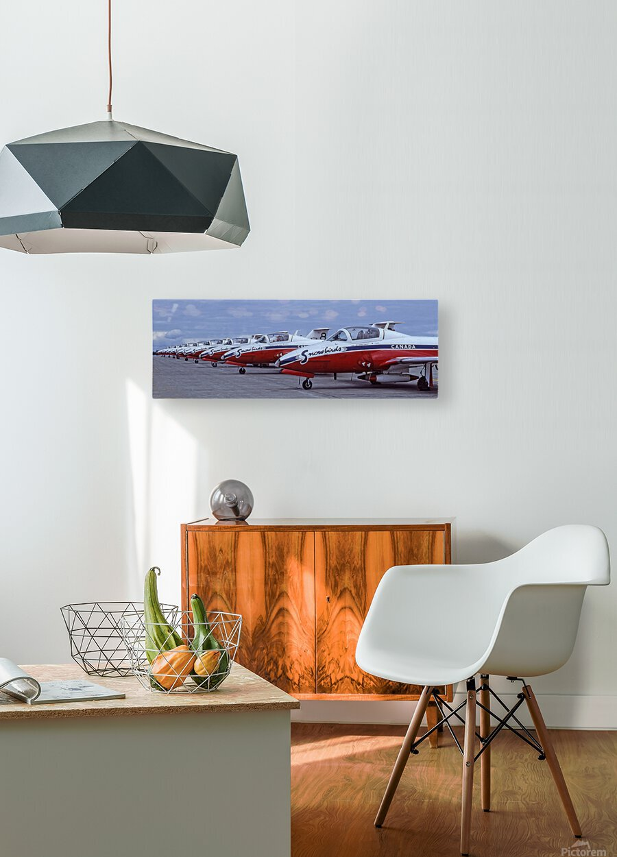 Snowbirds Between Shows  HD Metal print with Floating Frame on Back