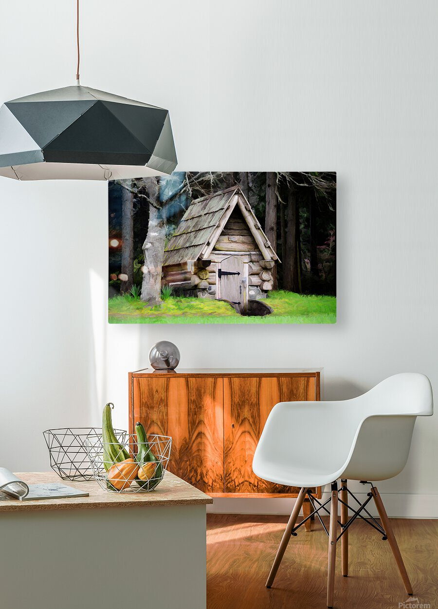 Old Root House  HD Metal print with Floating Frame on Back