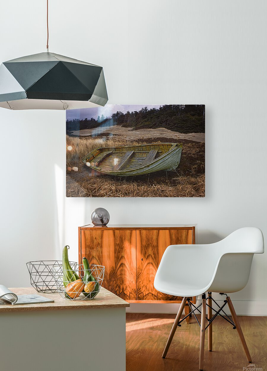 Clinker-built Rowboat  HD Metal print with Floating Frame on Back