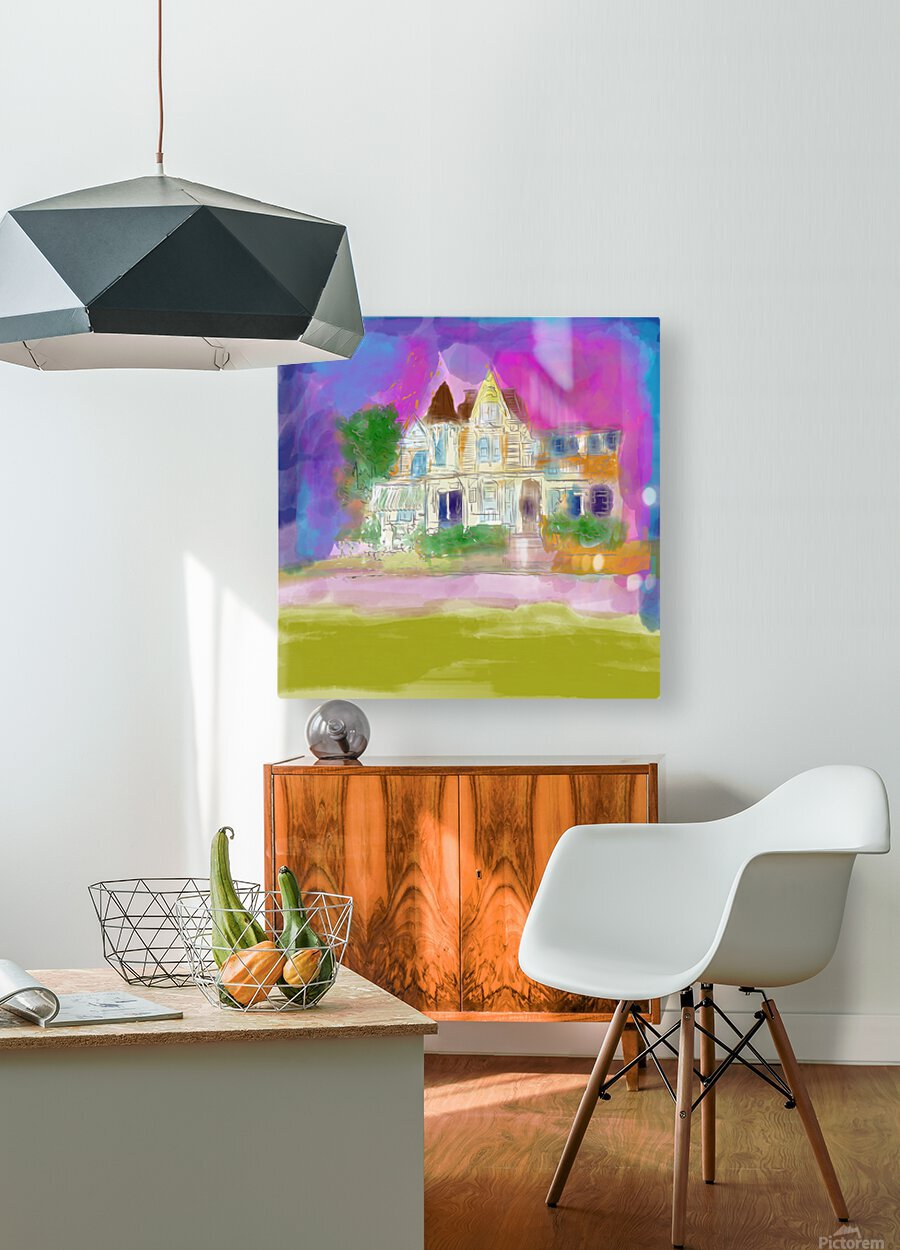 Victorian House at Cape May  HD Metal print with Floating Frame on Back