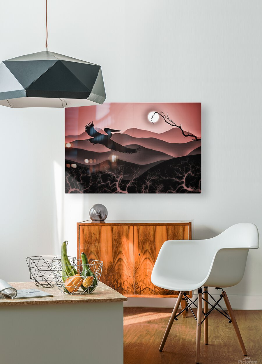 Flight of Fancy  HD Metal print with Floating Frame on Back