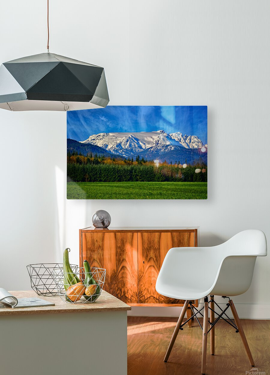 Comox Glacier in Early Spring  HD Metal print with Floating Frame on Back