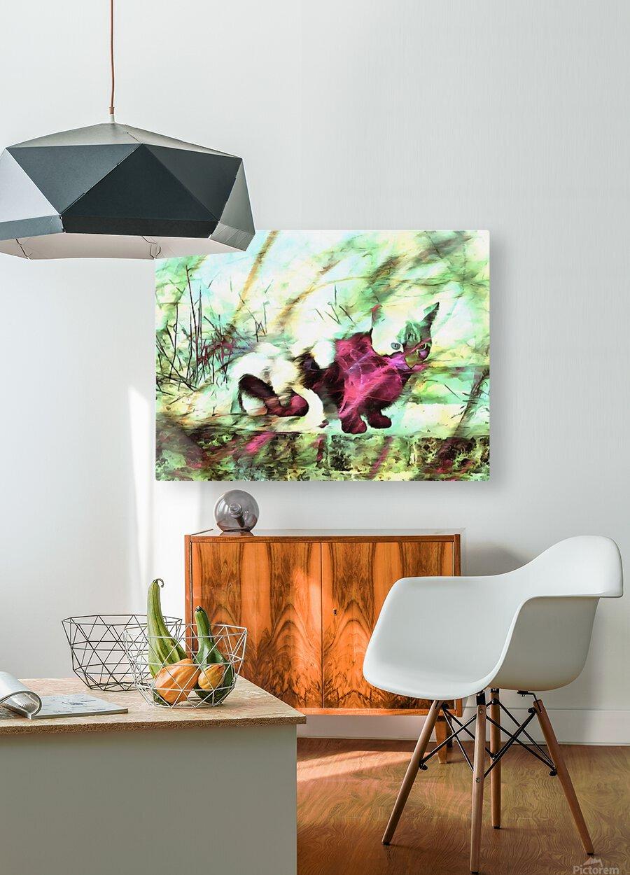 Cat Spirit  HD Metal print with Floating Frame on Back