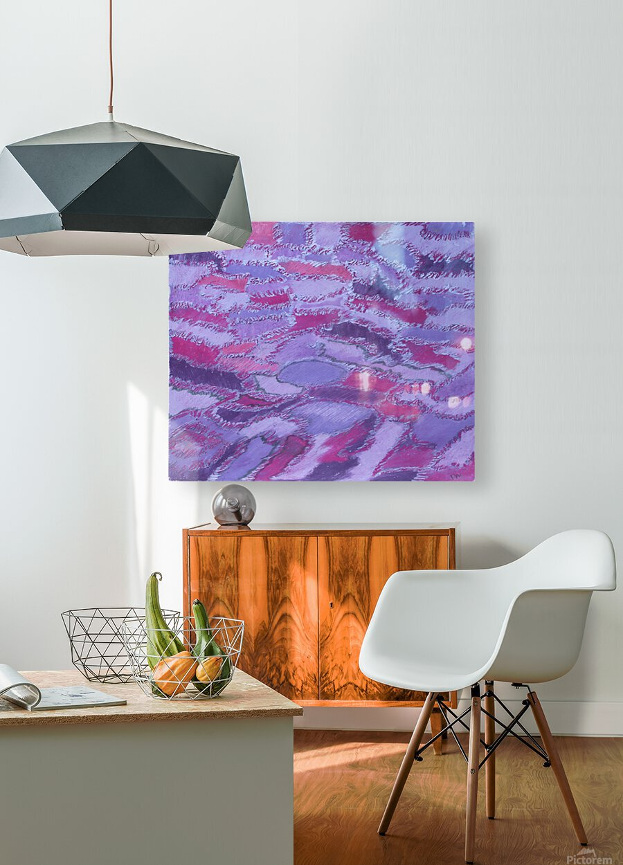shades of purple  HD Metal print with Floating Frame on Back
