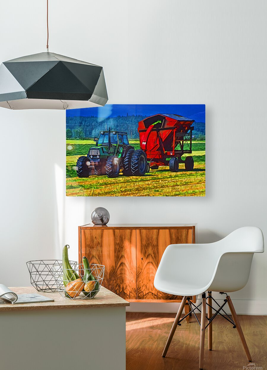 Making Hay  HD Metal print with Floating Frame on Back