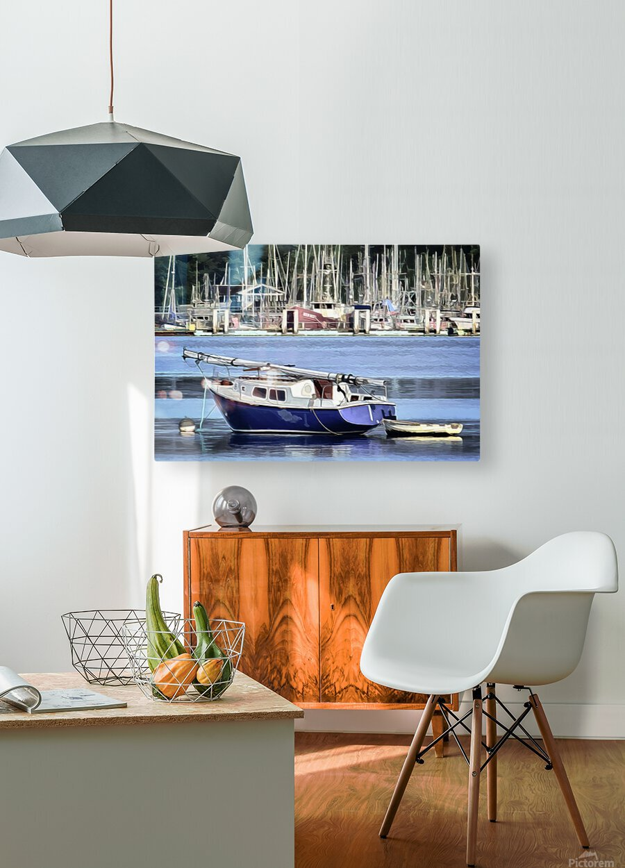Resting in the Harbor  HD Metal print with Floating Frame on Back
