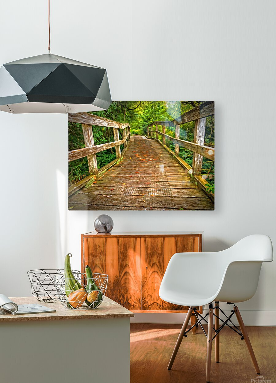 Bridge in the Sanctuary  HD Metal print with Floating Frame on Back