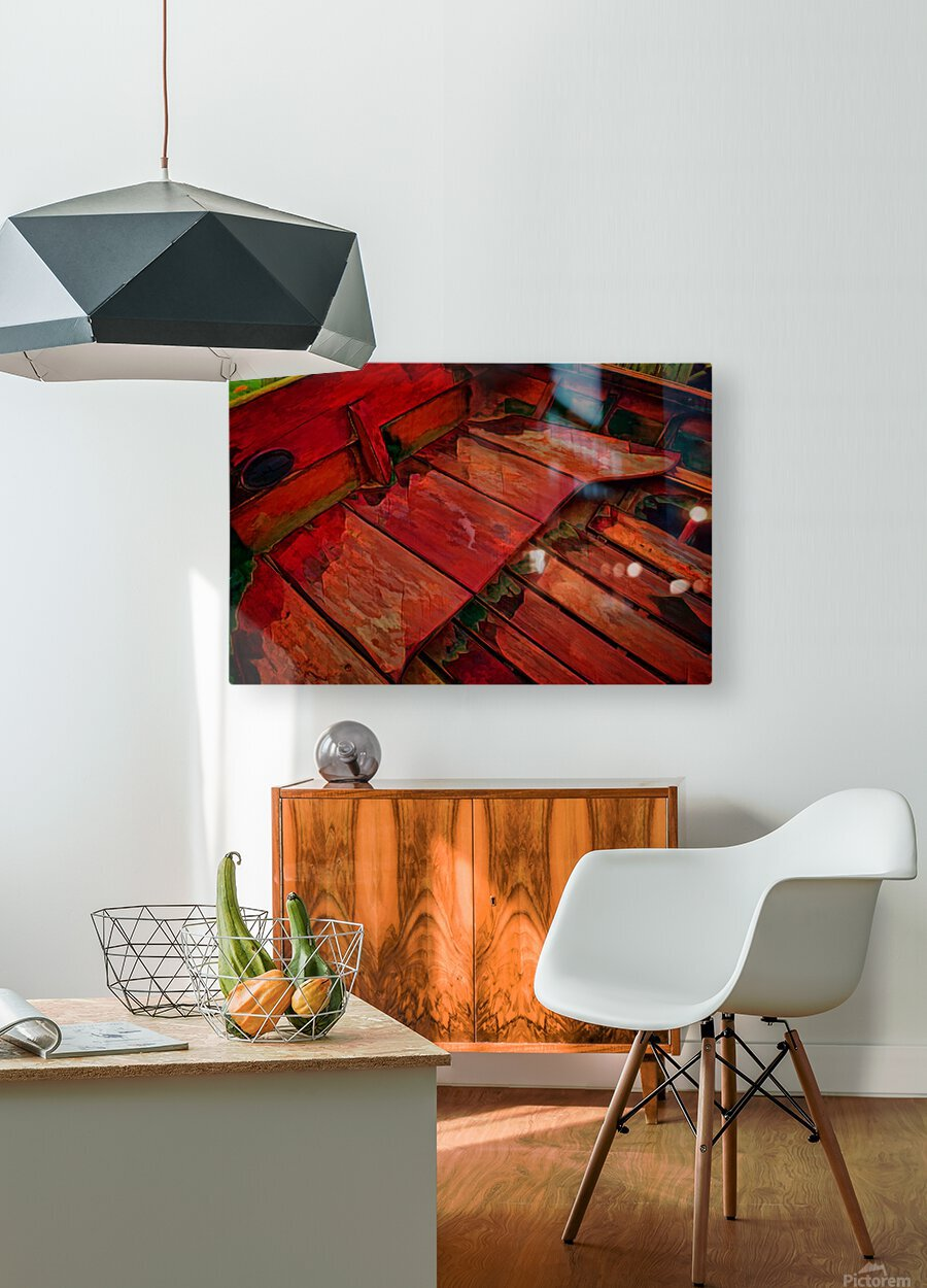 Rowboat Abstract  HD Metal print with Floating Frame on Back