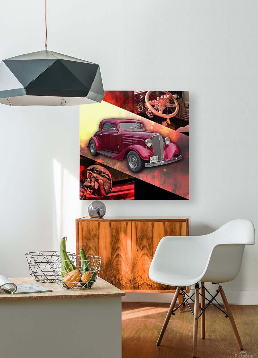 1935 Chevrolet 5-Window Coupe  HD Metal print with Floating Frame on Back