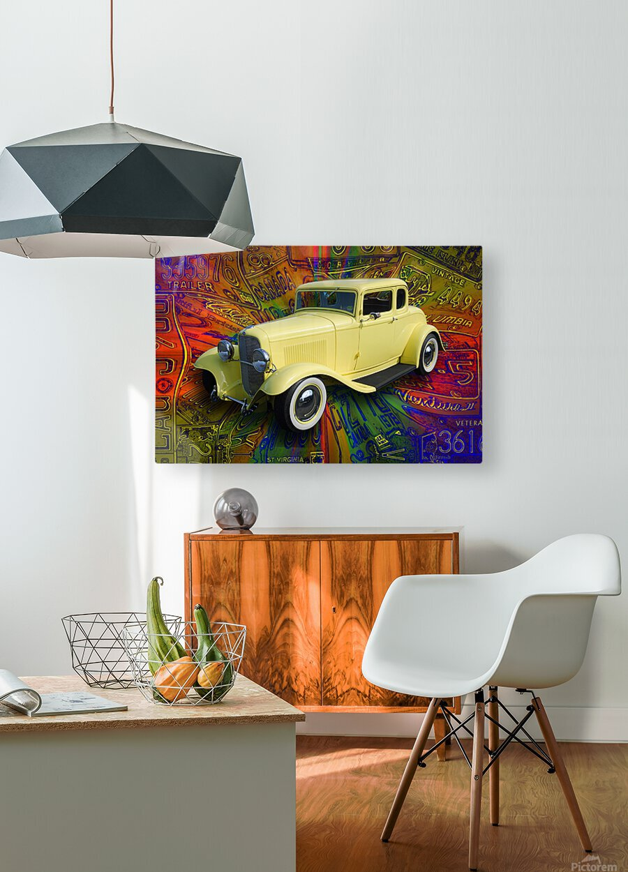 1932 Ford Coupe  HD Metal print with Floating Frame on Back