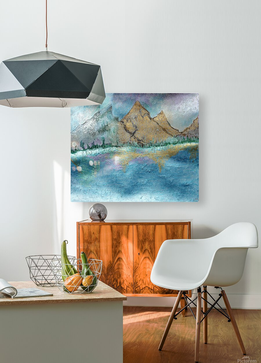 Mountains  HD Metal print with Floating Frame on Back