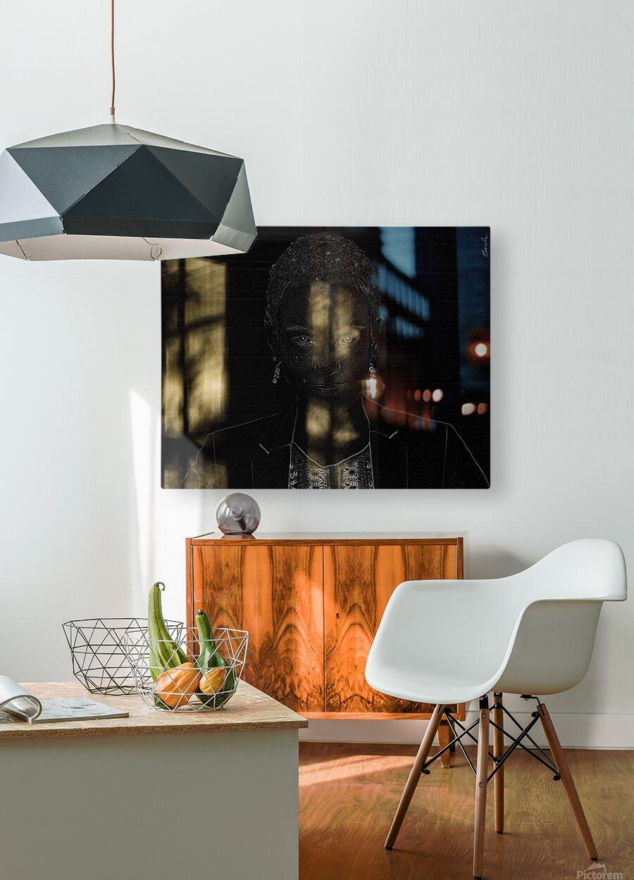 Entrer dans la lumiere -  Step into the light  HD Metal print with Floating Frame on Back