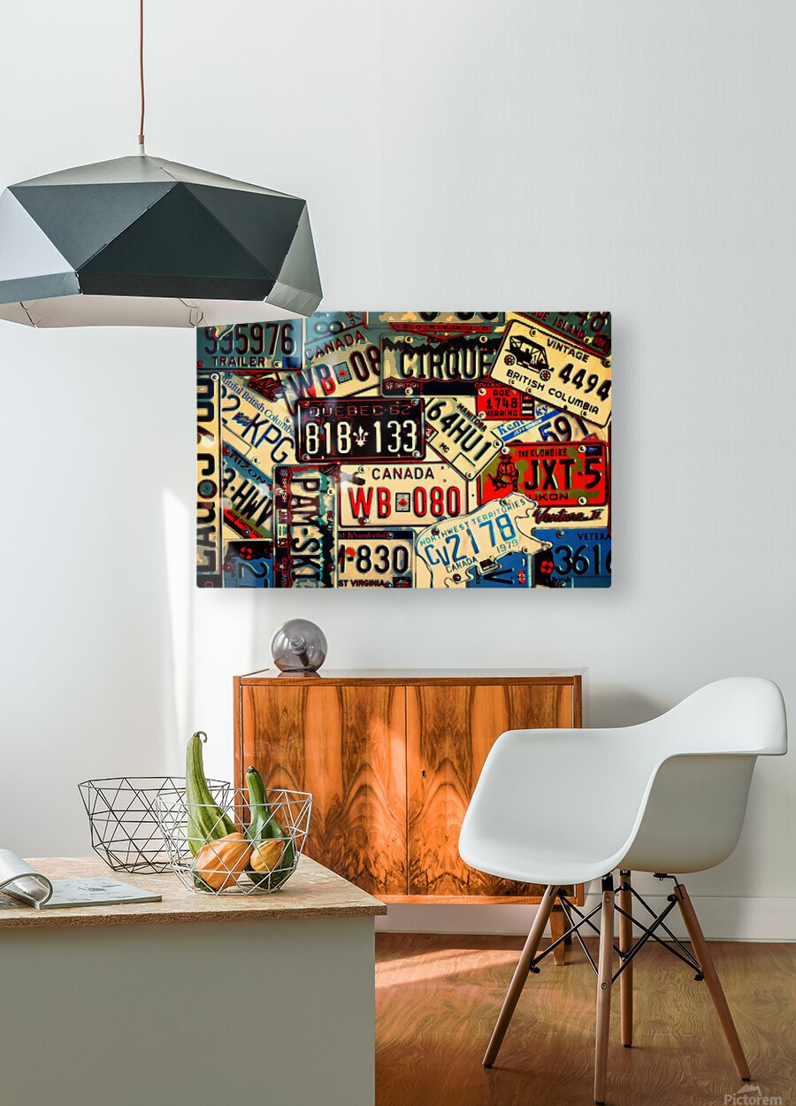Plates Galore  HD Metal print with Floating Frame on Back