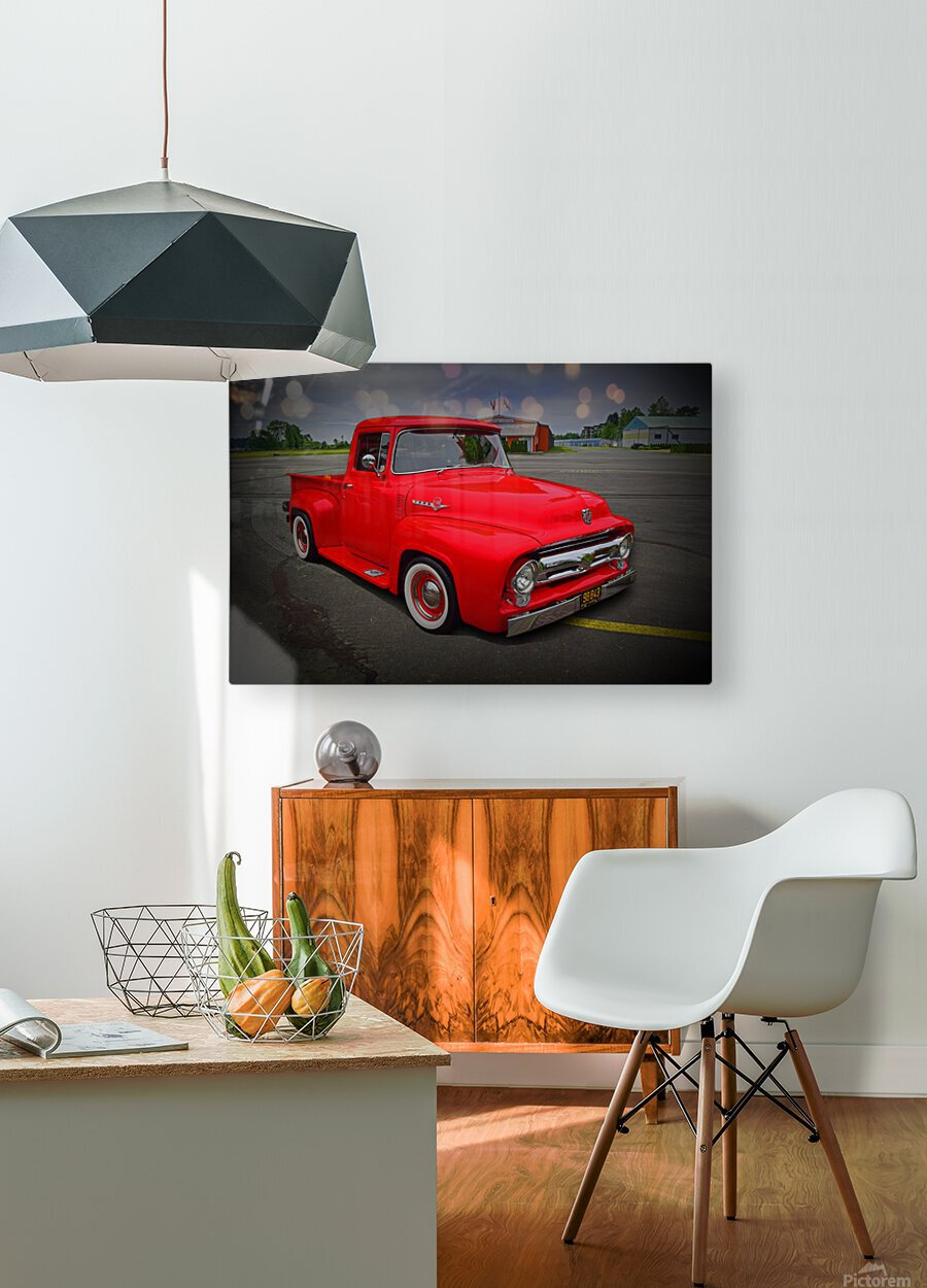1953 Ford Pickup  HD Metal print with Floating Frame on Back