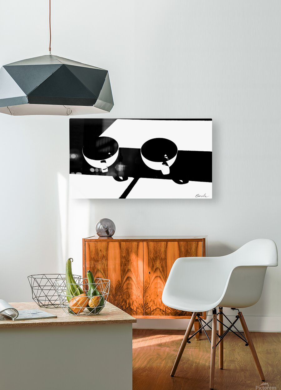 Un Amour Consomme - A Consumed Love  variation 3 NB  HD Metal print with Floating Frame on Back