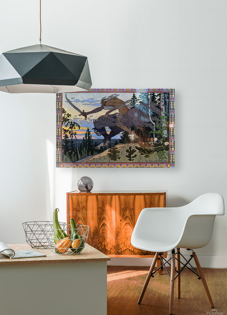 Fantasy Poster  HD Metal print with Floating Frame on Back
