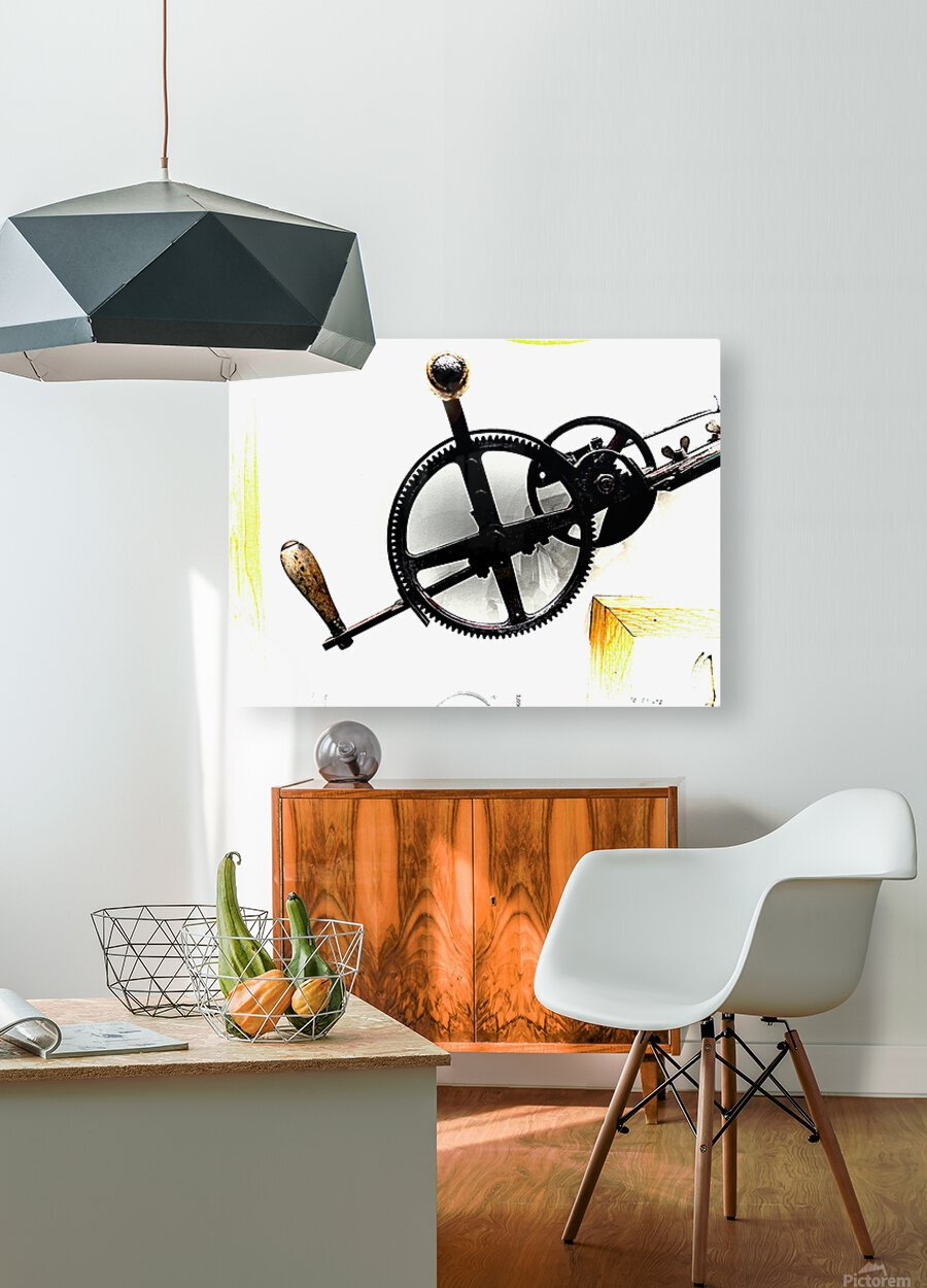 Antique Aspirations Towards Steampunk  HD Metal print with Floating Frame on Back