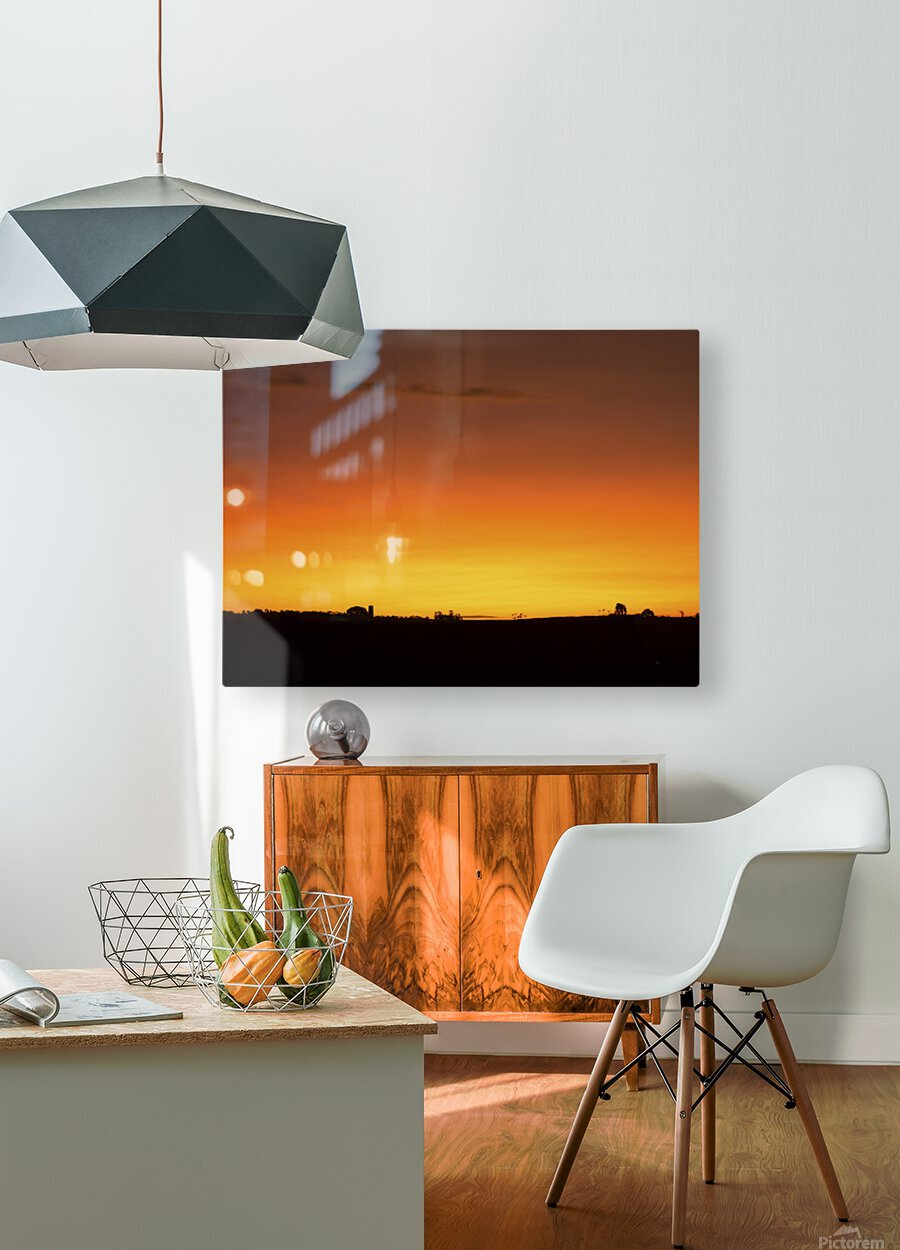 Strong Colours at the End of a Day  HD Metal print with Floating Frame on Back