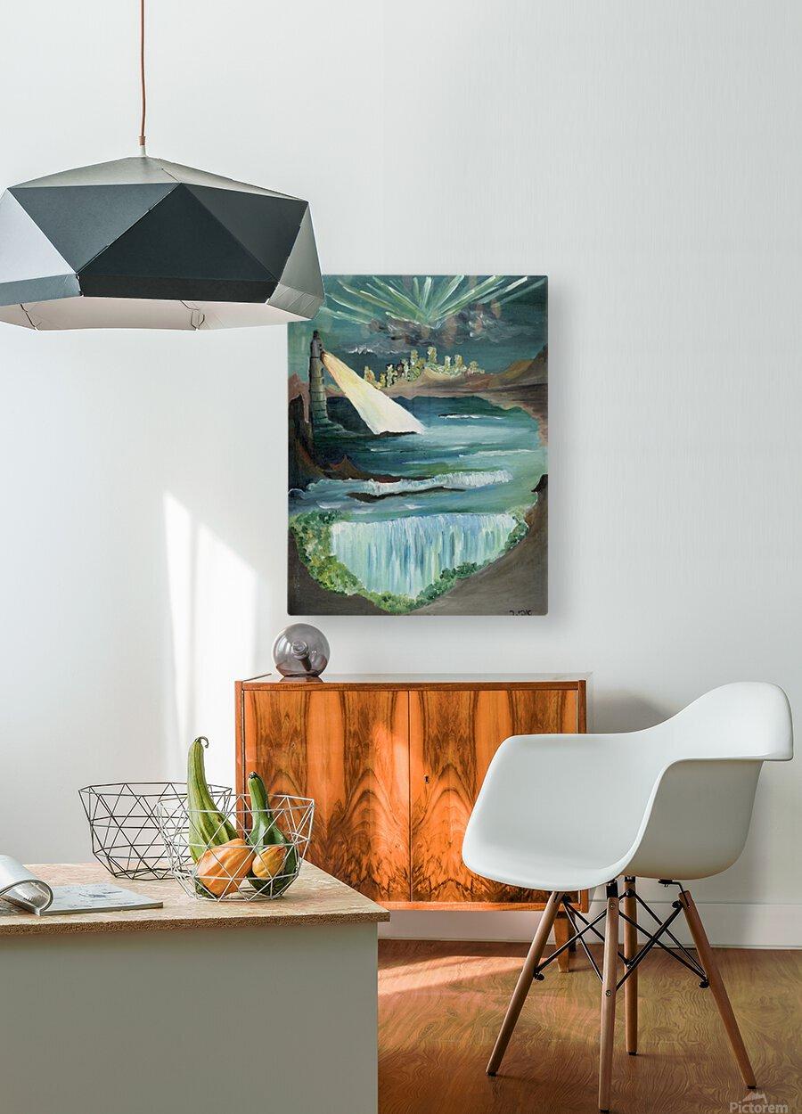 RA 040 - אור המגדלור - Lighthouse light  HD Metal print with Floating Frame on Back