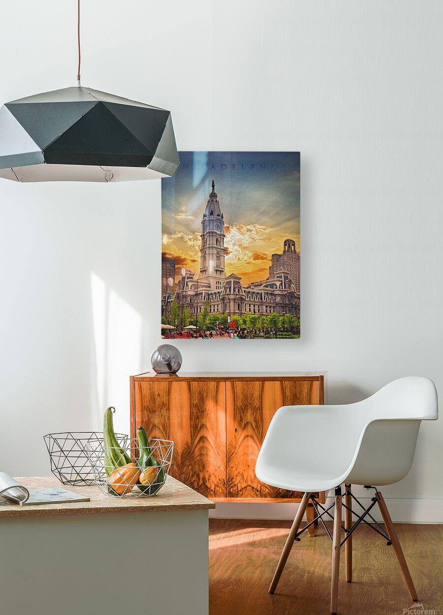 Philadelphia City Hall  HD Metal print with Floating Frame on Back