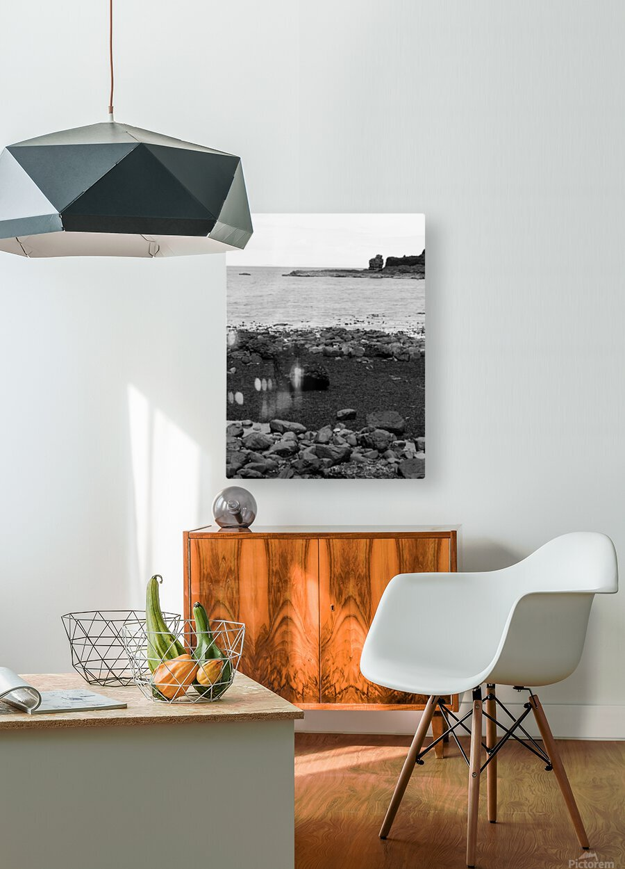 Sea and Rocks  HD Metal print with Floating Frame on Back