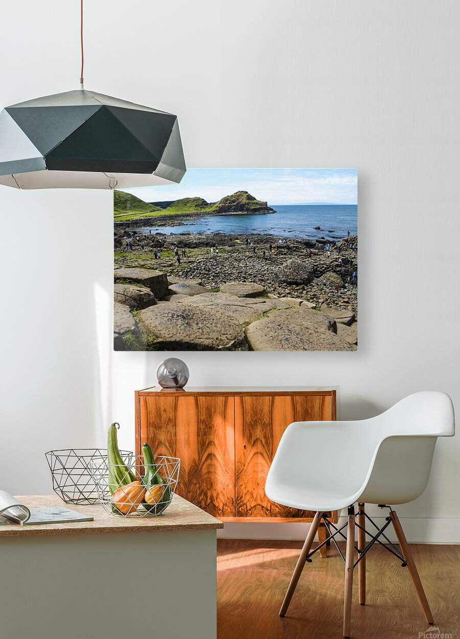 The Giants Causeway in Northern Ireland  HD Metal print with Floating Frame on Back