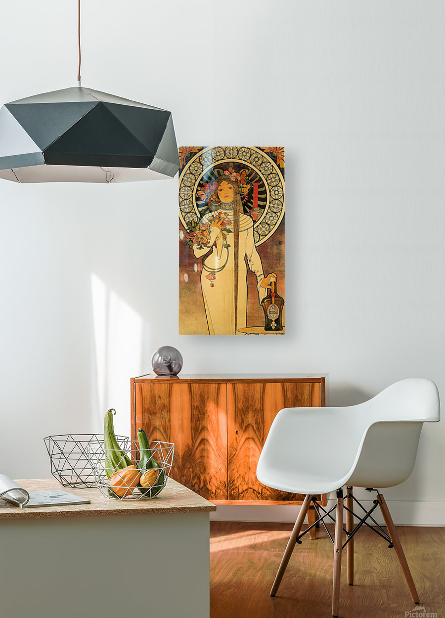 La Trappistine by Alphonse Mucha  HD Metal print with Floating Frame on Back